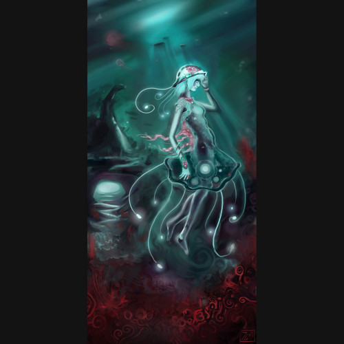 Concept art of a Jellyfish-girl
